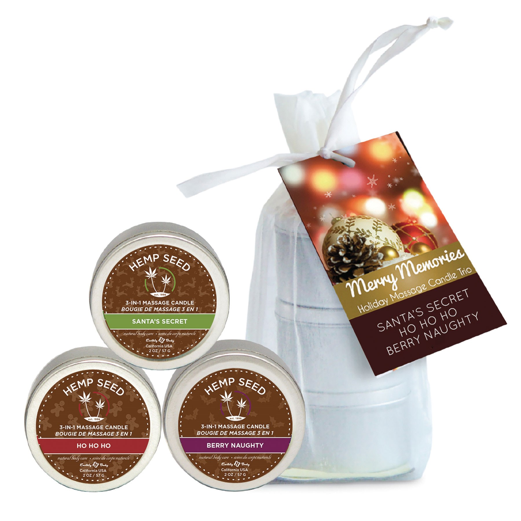 Merry Memories Holiday Massage Candle Trio