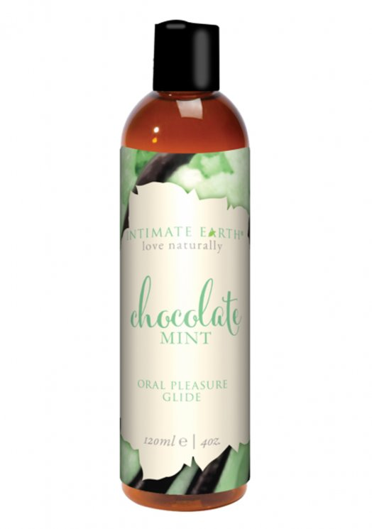 Intimate Earth Pure Vegan Oral Pleasure Glide - Chocolate Mint