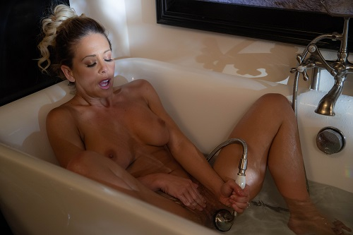 Cherie DeVille in the bath