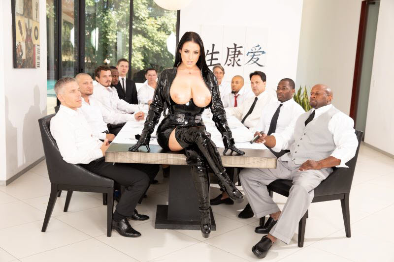 Angela White gangbang scene from Angela White Dark Side from Jules Jordan